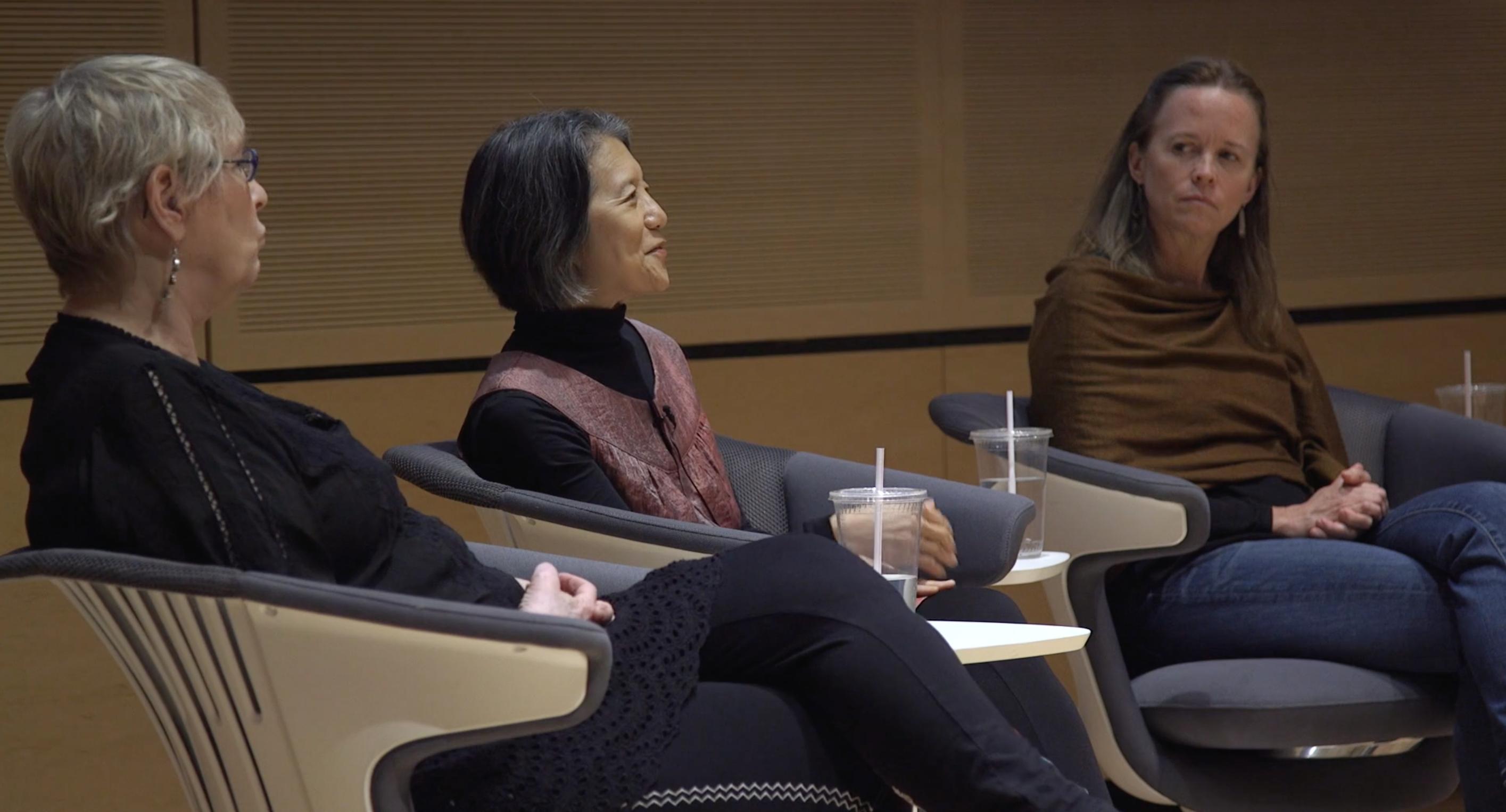 ladies speaking on a panel