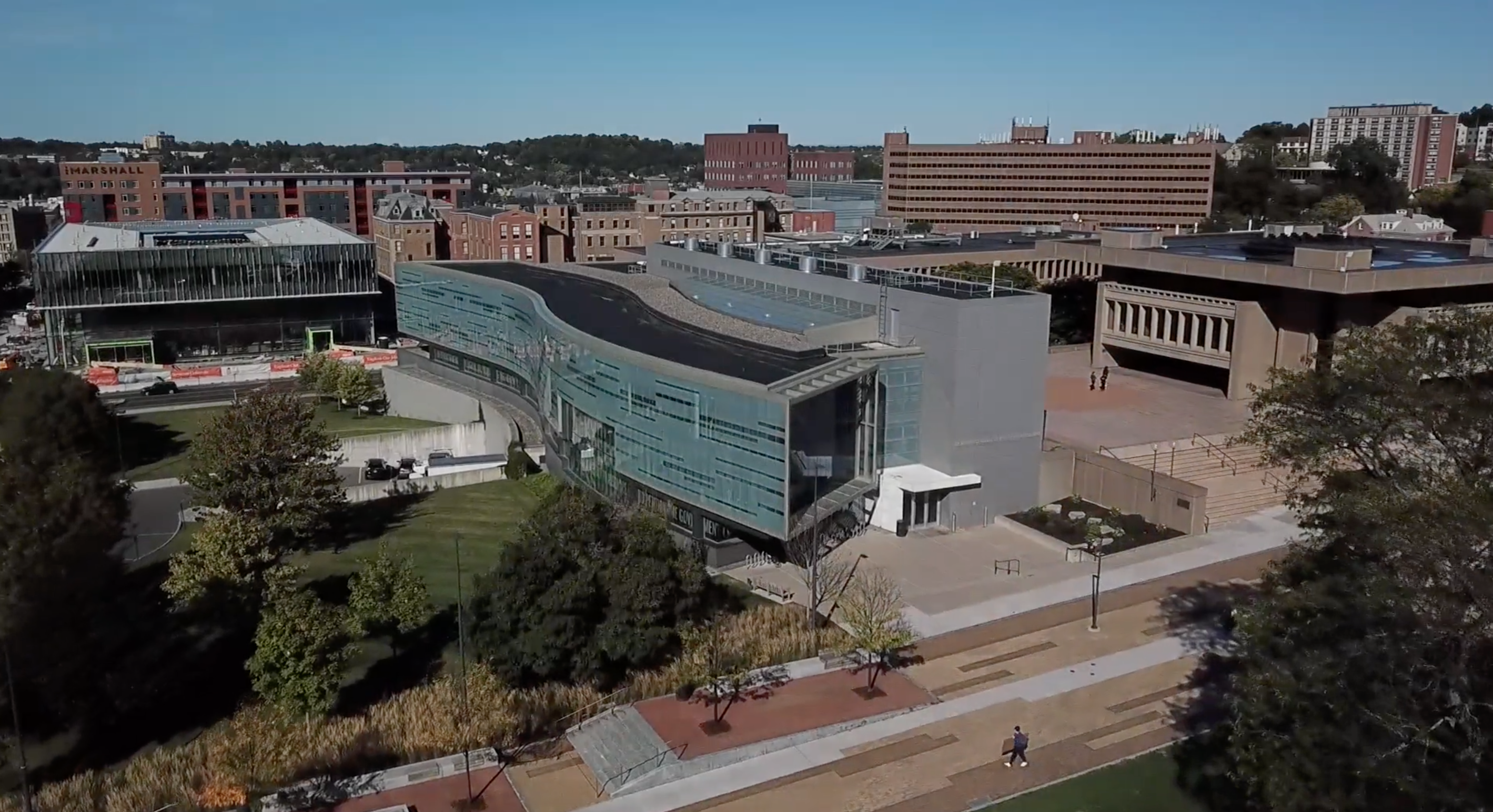 aerial view of Newhouse